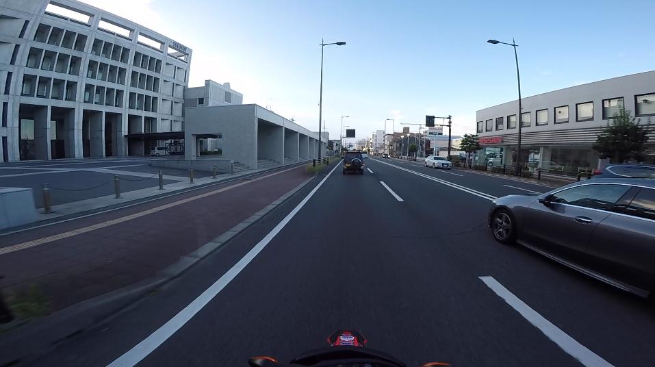 デコマウントのGoProで撮影した動画の画角「1080 SuperView, 60fps」