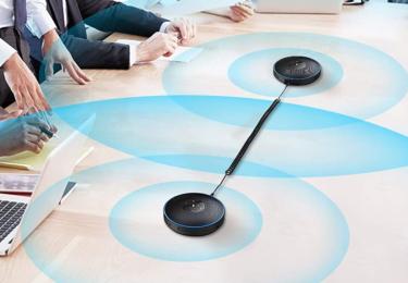 eMeet Luna / M2 / M220は連結ケーブルで大会議室にも対応 | 純正ケーブル以外はNG